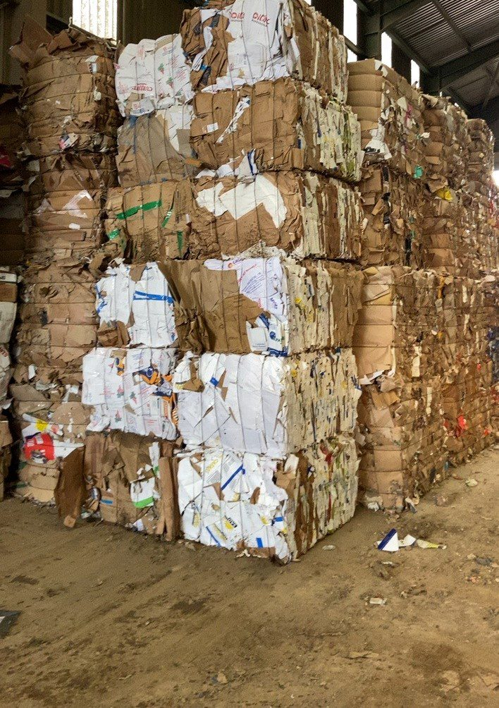 Business waste disposal cardboard