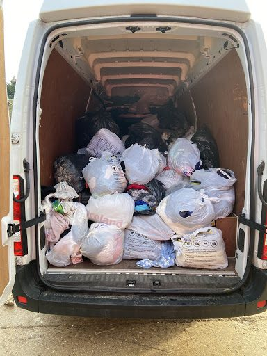 air ambulance clothing recycling scheme bags