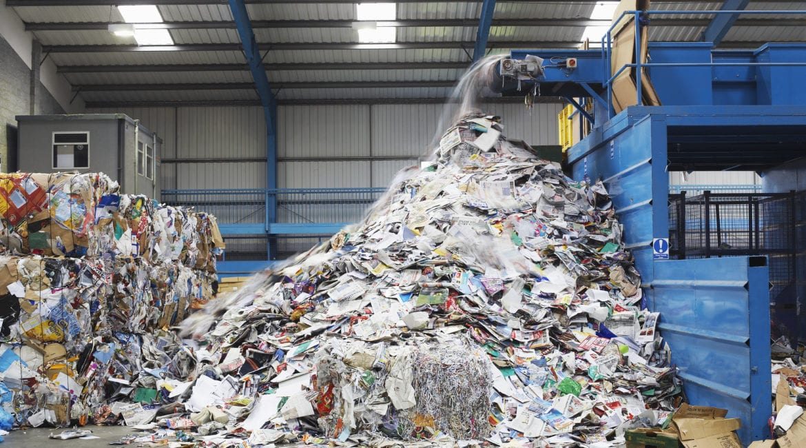 what happens to recycled waste