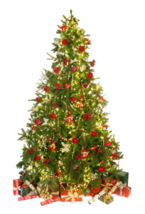 Decorated-Christmas-tree-hire